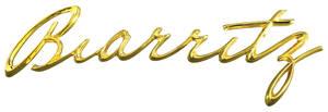 """Cadillac Fender Emblem, 1957 """"Biarritz"""" (Script)"""