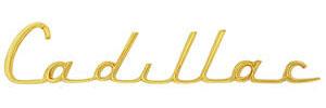 """1957-1957 Cadillac Fender Emblem, 1957 """"Cadillac"""" (Script)"""