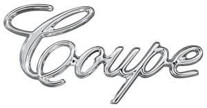 """Cadillac Fender Emblem, 1971-76 """"Coupe"""" (Script)"""