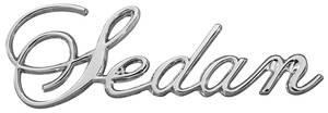 """Cadillac Fender Emblem, 1971-76 """"Sedan"""" (Script)"""