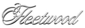 """Cadillac Fender Emblem, 1973-75 """"Fleetwood"""" (Script)"""