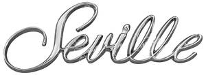 "Cadillac Fender Emblem, 1976 ""Seville"" (Script)"
