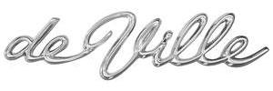 "Cadillac Quarter Panel Emblem, 1962 ""DeVille"" (Script)"