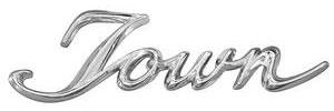 """1962-1962 Cadillac Quarter Panel Emblem, 1962 """"Town"""" (Script)"""
