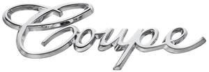 "Cadillac Quarter Panel Emblem, 1965-70 (Script) ""Coupe"""