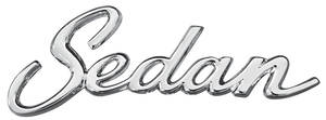 "Cadillac Quarter Panel Emblem, 1965-70 ""Sedan"" (Script)"