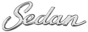 """Cadillac Quarter Panel Emblem, 1965-70 """"Sedan"""" (Script)"""