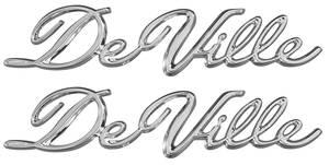 """Cadillac Quarter Panel Emblem, 1965-70 """"DeVille"""" Convertible (Script), by TRIM PARTS"""