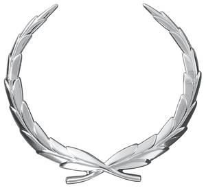 1976 Cadillac Hub Cap Emblem (Wreath) Fleetwood Limo w/Wire Wheel Cap