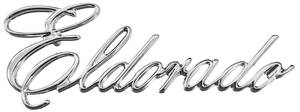 "Cadillac Quarter Panel Emblem, 1975-76 ""Eldorado"" (Script)"