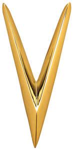 """Cadillac Trunk Emblem, 1958 Eldorado """"V"""""""