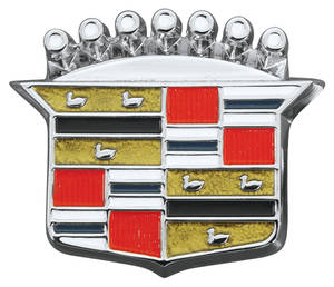 1964-1968 Cadillac Trunk Lock Emblem, 1964-68 (Crest), by RESTOPARTS