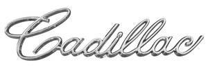"""Eldorado Trunk Lid Emblem, 1966-67 """"Cadillac"""" (Script)"""