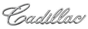 """Trunk Lid Emblem, 1966-67 """"Cadillac"""" (Script)"""