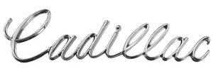 """Trunk Lid Emblem, 1968-69 """"Cadillac"""" (Script)"""