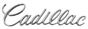 """Trunk Lid Emblem, 1970 """"Cadillac"""" (Script)"""