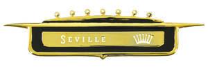 DeVille Tail Fin Emblem, 1958 Seville (Crest)