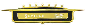 Cadillac Tail Fin Emblem, 1958 Seville (Crest)
