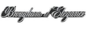 "1975-1976 Cadillac Dash Emblem, 1975-76 ""Brougham D'Elegance"""