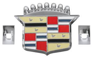 1963-76 Cadillac Hub Cap Emblem (Crest), by RESTOPARTS