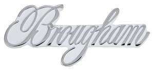 """Cadillac Roof Emblem, 1965-72 """"Brougham"""" (Script)"""