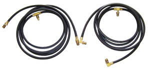 Cadillac Convertible Top Hose Kit (Late 1955, Except Fleetwood) with Side Hose Ports