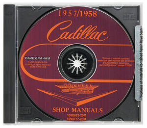 1957-58 Cadillac Factory Shop Manual CD-ROM
