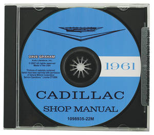 1961 Cadillac Factory Shop Manual CD-ROM