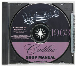1963-1963 Cadillac Factory Shop Manual CD-ROM