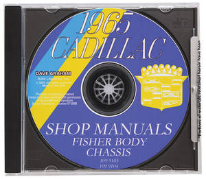 1965-1965 Cadillac Factory Shop, Body & Chassis Manual CD-ROM