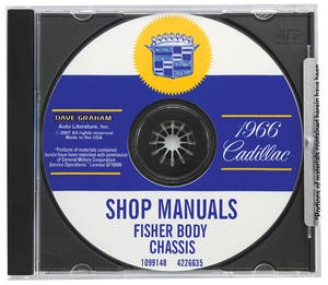 1966-1966 Cadillac Factory Shop, Body & Chassis Manual CD-ROM