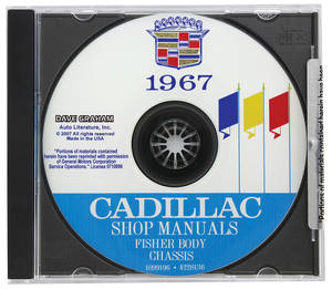 1967 Cadillac Factory Shop, Body & Chassis Manual CD-ROM