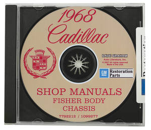 1968 Cadillac Factory Shop, Body & Chassis Manual CD-ROM