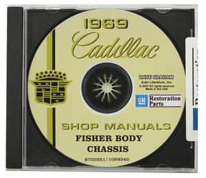 1969 Cadillac Factory Shop, Body & Chassis Manual CD-ROM
