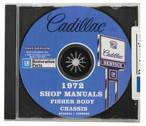 1972-1972 Cadillac Factory Shop, Body & Chassis Manual CD-ROM