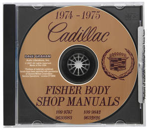 1974-75 Cadillac Factory Shop, Body & Chassis Manual CD-ROM