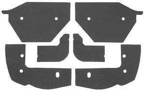 1963-64 Cadillac Headlight Filler Seals (Six-Piece)