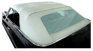 1971-1972 Catalina Convertible Top Kits, Complete Catalina OE Vinyl w/Glass Window, w/o Defroster