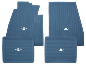 1957-58 Cadillac Floor Mats, Original Style Rubber
