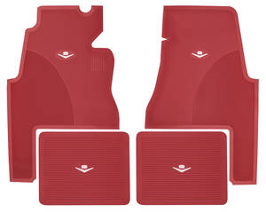 1959-60 Cadillac Floor Mats, Original Style Rubber (2-Door)