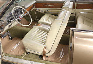 1961-64 Cadillac Floor Mats, Original Style Rubber