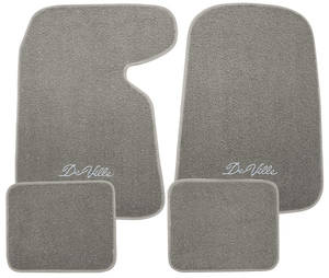 "1954-1976 Cadillac Floor Mats, Carpet Matched Oem Style ""DeVille"" Script, by Trim Parts"
