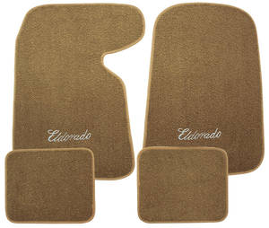 "1954-1976 Cadillac Floor Mats, Carpet Matched Oem Style ""Eldorado"" Script, by Trim Parts"