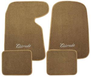 "1952-93 Cadillac Floor Mats, Carpet Matched Oem Style ""Eldorado"" Script"