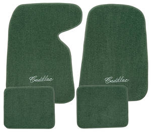"1954-76 Floor Mats, Carpet Matched Oem Style ""Cadillac"" Script, by ACC"