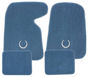 1954-1976 Cadillac Floor Mats, Carpet Matched Oem Style (with Cadillac Wreath), by Trim Parts