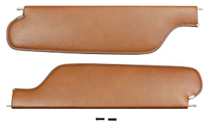 1973-76 Cadillac Sun Visors, Ribbed Grain Vinyl (DeVille without Mirror)