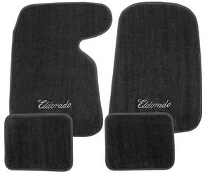 "1952-93 Floor Mats, Carpet Matched Essex ""Eldorado"" Script"
