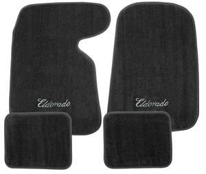 "1952-93 Cadillac Floor Mats, Carpet Matched Essex ""Eldorado"" Script"