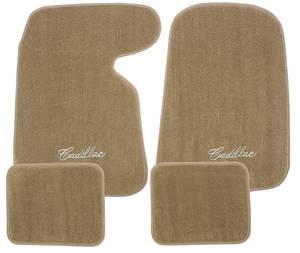 "1954-1976 Cadillac Floor Mats, Carpet Matched Essex ""Cadillac"" Script, by Trim Parts"